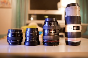 My current Canon lenses