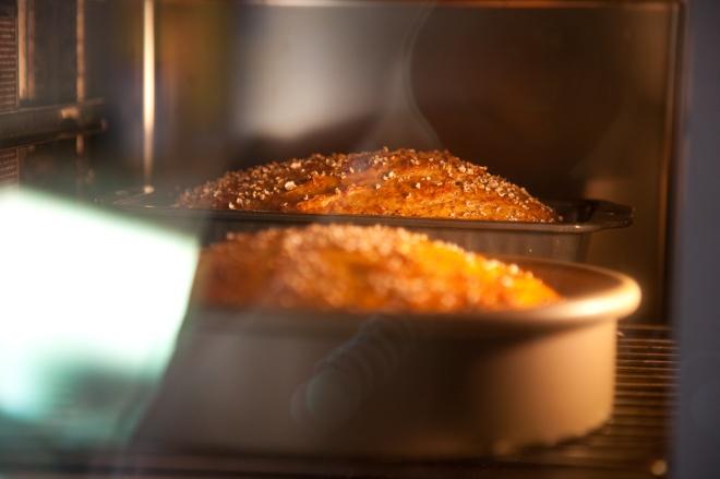Bread in steam oven